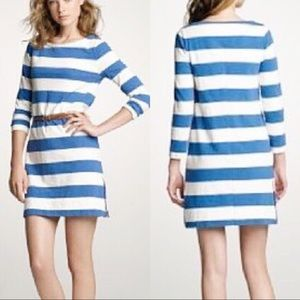 J Crew • Classic Stripe Side Zipper Maritime Dress